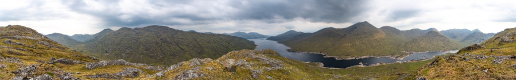 A 360 Degree Panorama - The Loch Cuaich (Quoich) Hills, Lochalsh & Knoydart