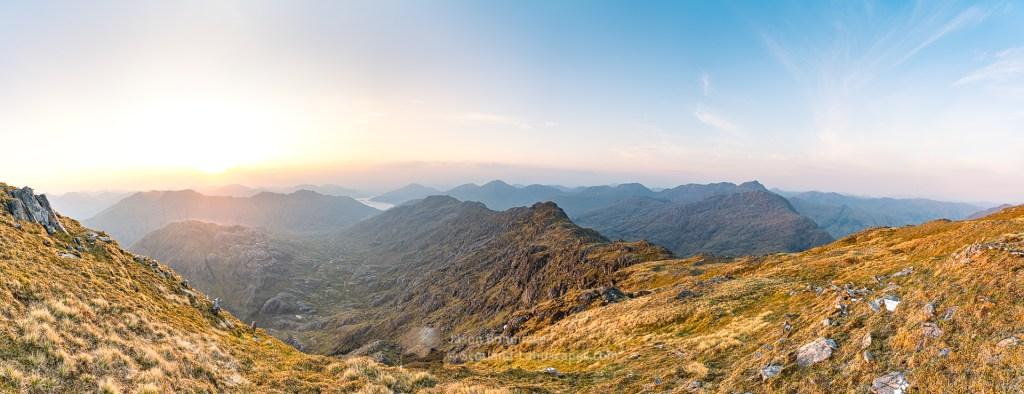 An Easterly Panorama from Sgurr a' Choire-bheithe, Lochalsh & Knoydart