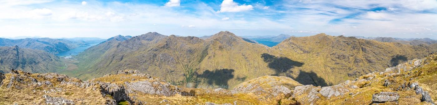 A Knoydart Panorama from Beinn an Aodainn (Ben Aden), Lochalsh & Knoydart