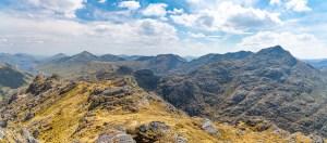 South Easterly Panorama from Beinn an Aodainn (Ben Aden) Summit, Lochalsh & Knoydart
