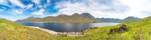 A 180 Degree Panorama from the North Shore of Loch Cuaich (Quoich), Lochalsh & Knoydart