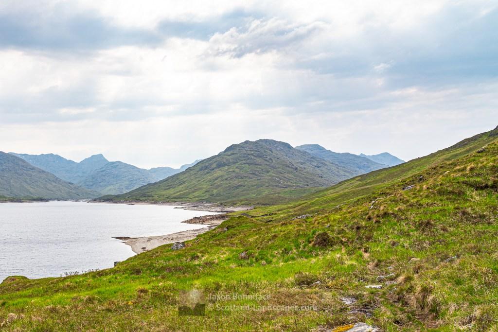 The North Shore of Loch Cuaich (Quoich), Lochalsh & Knoydart