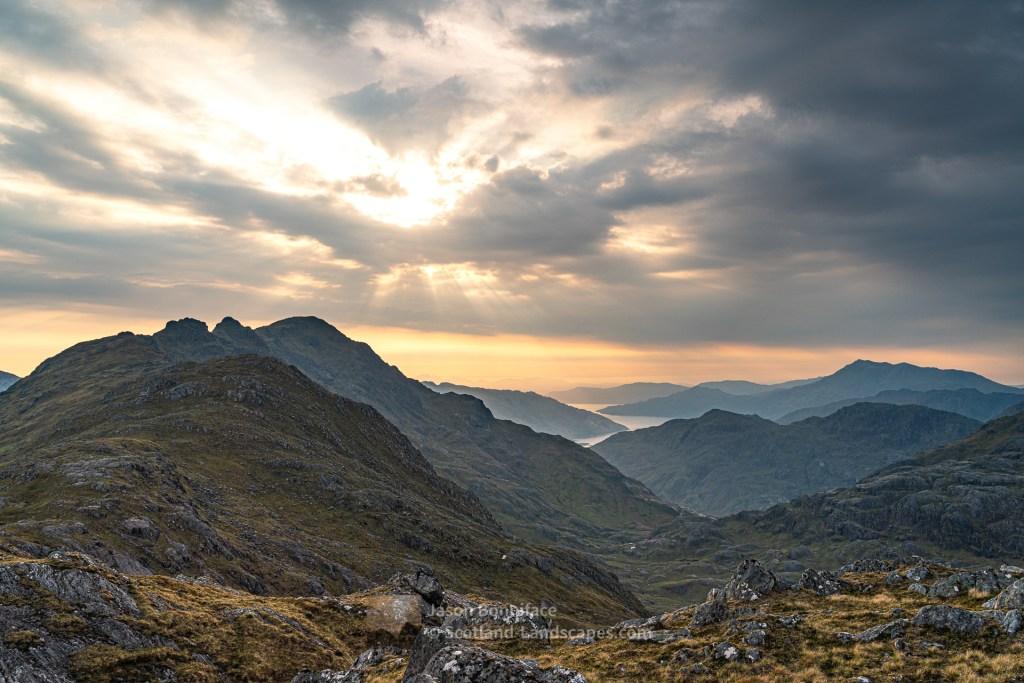 Sgurr a' Choire-bheithe and Loch Hourn Evening Sun, Lochalsh & Knoydart