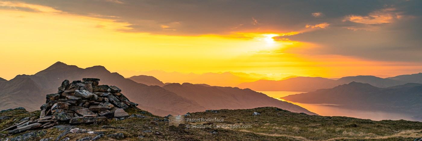 Sunset - Ladhar Bheinn and Loch Hourn, Knoydart, Lochalsh & Knoydart
