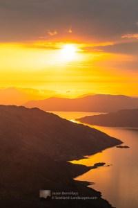 Loch Hourn Sunset (Portrait), Lochalsh & Knoydart