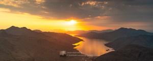 Ladhar Bheinn, Loch Hourn & Beinn Sgritheall at Sunset, Lochalsh & Knoydart