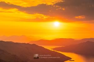 Sunset Over Skye from Sgurr a' Choire-bheithe, Lochalsh & Knoydart