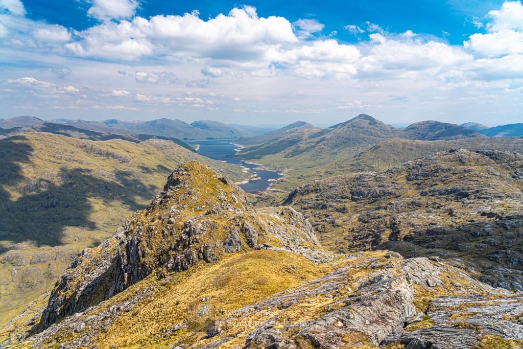 Down Loch Cuaich (Quoich) from Beinn an Aodainn (Ben Aden), Lochalsh & Knoydart