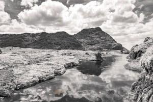Sgurr na Ciche from the North (B&W), Lochalsh & Knoydart