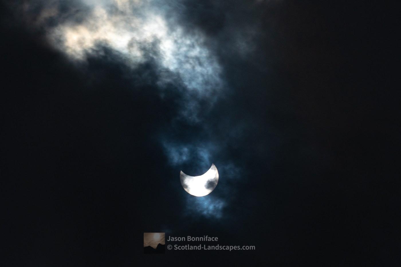 Partial Eclipse 10th June 2021 - A Glimpse Through The Clouds -1, Caithness