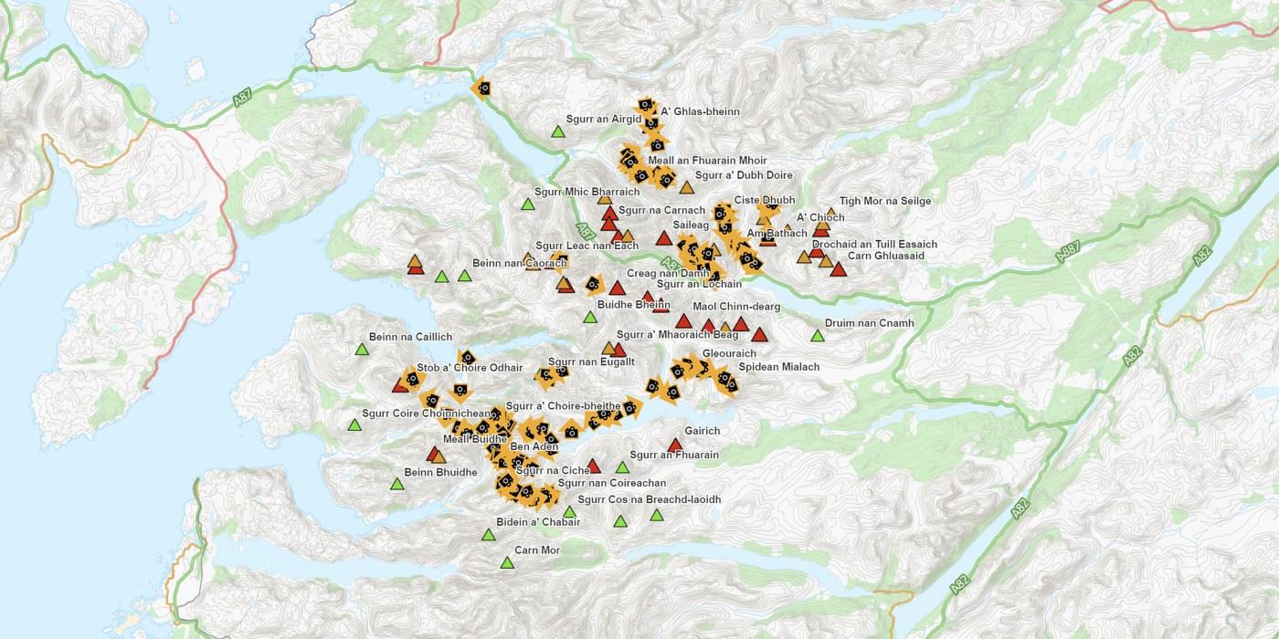 Lochalsh & Knoydart map screen shot