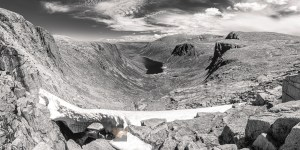 The Loch Avon Basin from the Feith Buidhe (B&W), Cairngorm