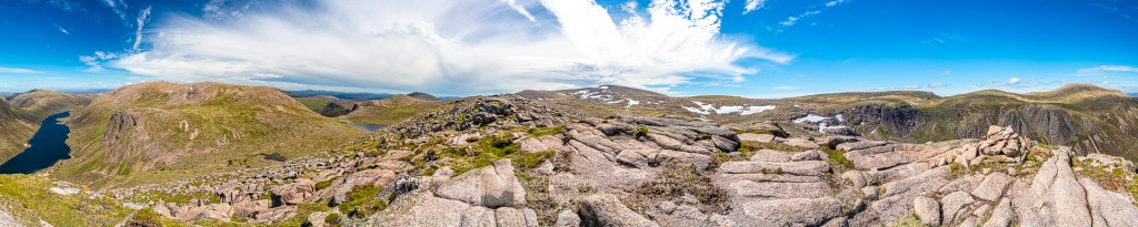 A 360 Degree Cairngorm Panorama - From Carn Etchachan, Cairngorm