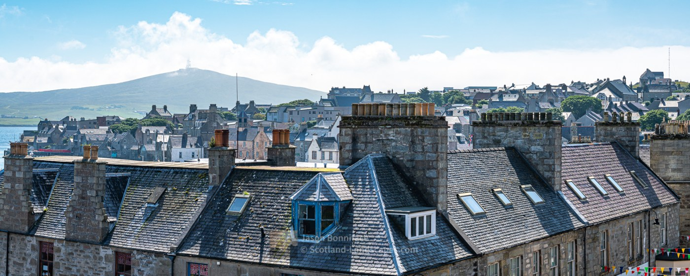 The Chimneys and Roof Tops of Lerwick, Shetland