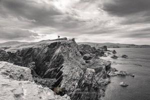 The West Coast of Fethaland (B&W), Shetland