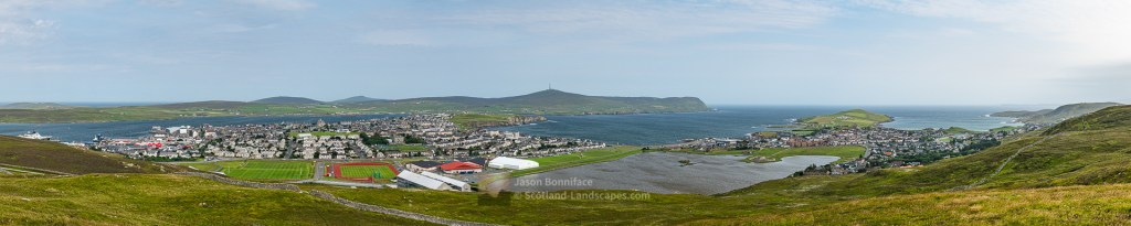 Lerwick Panorama from South Staney Hill, Shetland
