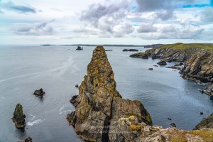 The Gordi Stack and The Drongs off of the Ness of Hillswick, Shetland