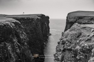 Calder's Geo, Esha Ness (B&W), Shetland