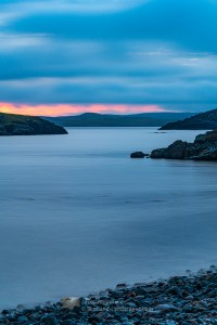 The North Sound of Nibon - Sunset After a Grey Evening, Shetland