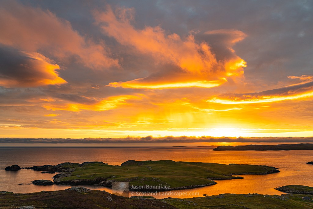 The Isle of Nibon at Sunset, Shetland