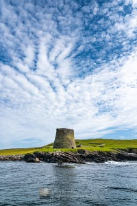 Mousa Broch from the Mousa Boat, Shetland